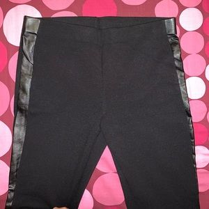 DKNYC Pants - Pants with leather sides !! DKNYC